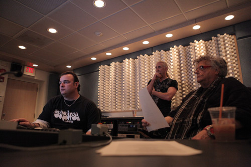 mike with leslie west and dee snider at imp studios